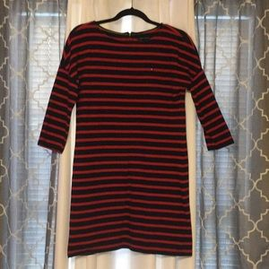 Tommy long sleeve stripped dress
